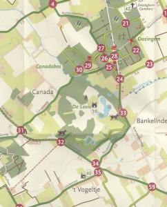Kaart wandeling De Lovie